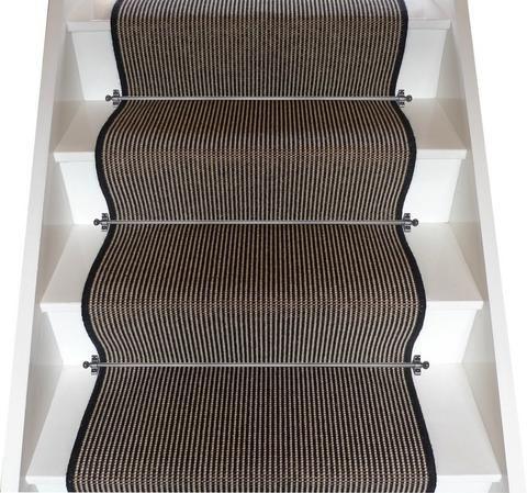 Crucial Trading Wool & Linen Ebony Stair Runner