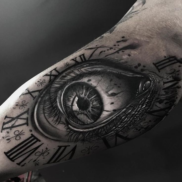 Eye And Multiple Clock Tattoo: 27 Best Clock Tattoo Images On Pinterest