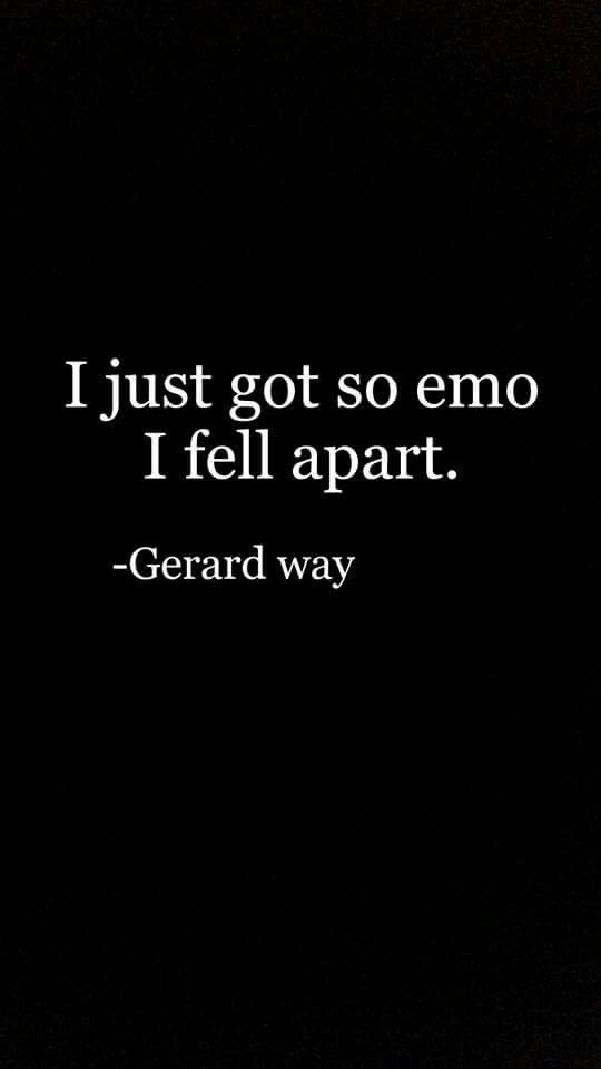 Gerard on god action figure an interviewer gave him falling to pieces