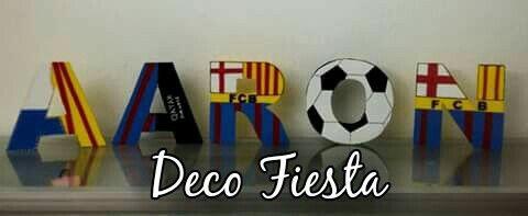 Letras decoradas fútbol Barcelona  394d72de2c176