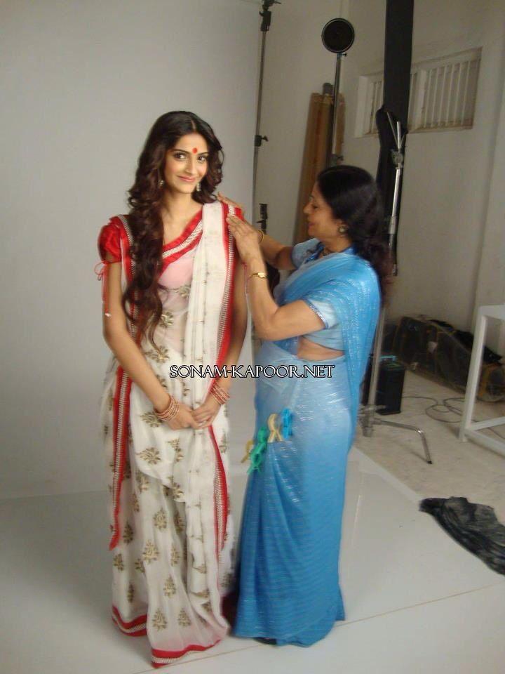 Sonam Kapoor-Bengali saree                                                                                                                                                      More