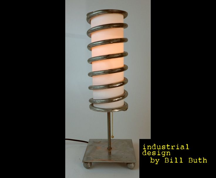 Industrial Handmade 'Upcycled' Car Spring Steel Steampunk Table Lamp by BillieBoi on Etsy #steampunk #tablelamp #industrial #lamp #artlamp