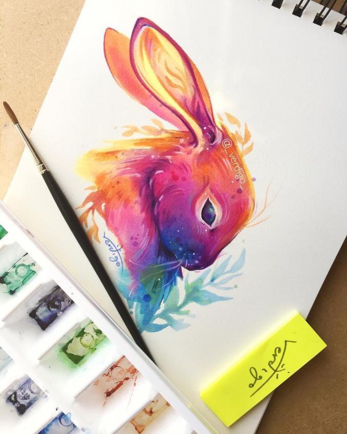 Rainbow rabbit!