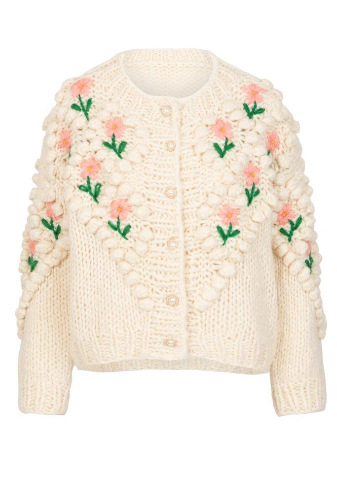 Lily and Bean Chunky Cardigan Flowers and Pearls in 2020