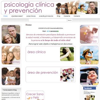 Página web para gabinete de psicología.