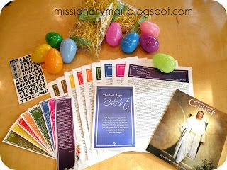 Easter Week - The Last Days of Christ's mortal life. Bookmarks and handouts