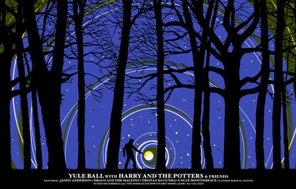 GigPosters.com - Harry And The Potters - Jason Anderson - Draco And The Malfoys - Tristan Da Cunha - Uncle Monsterface