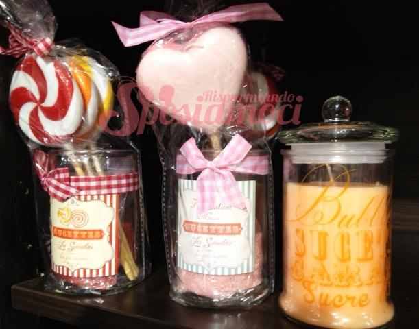 per decorare la tavola, vasetti di tutti i tipi con candele a forma di lecca lecca http://sposiamocirisparmiando.com/decorazioni-matrimonio-fai-da-te-maison-du-monde.html