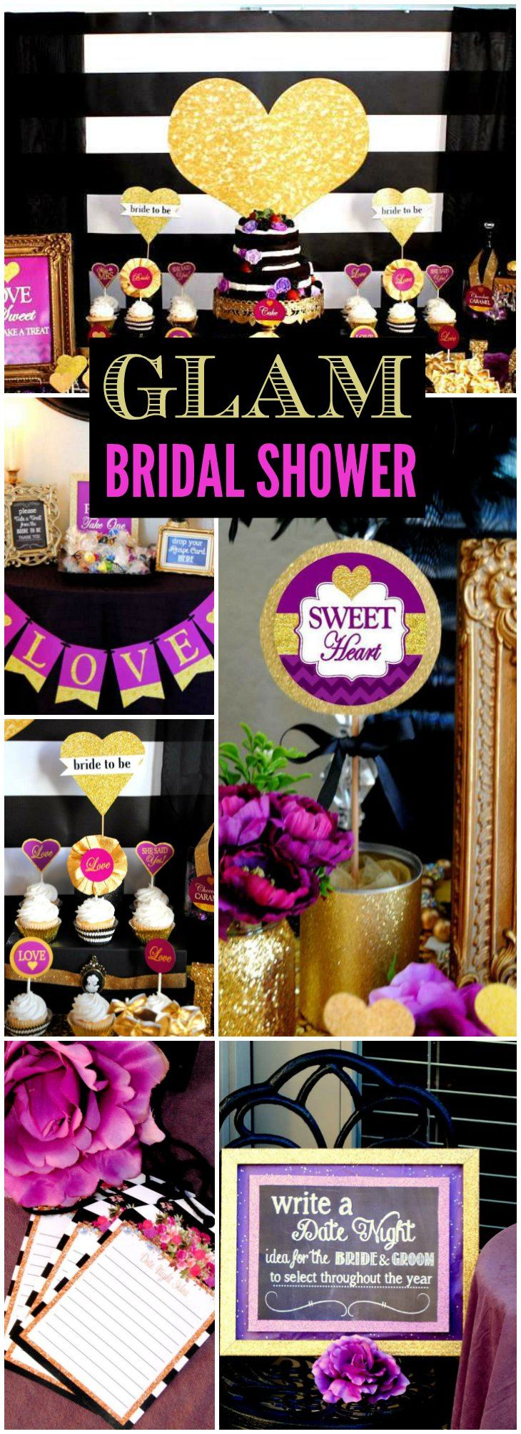 Love sparkles at this stunning bridal shower! See more party ideas at CatchMyParty.com!