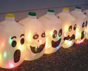 Milk Jug Ghosts   AllFreeHolidayCrafts.com