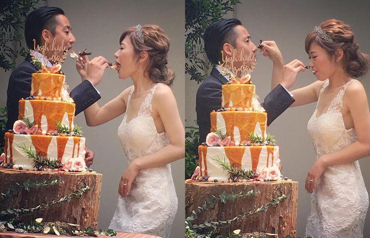 ケーキ入刀の代わりの演出!垂らしこみケーキのやり方 | marry[マリー]