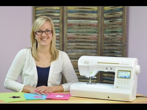Watch as Stephanie with Baby Lock Sewing Machines shows you three different ways to applique. Download the star templates here: http://totallystitchin.net/ar...