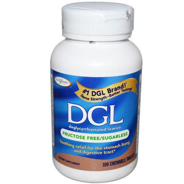 Enzymatic Therapy, DGL、デグリシリザイナティド リコリス、フルクトースフリー(無糖)、100咀嚼錠