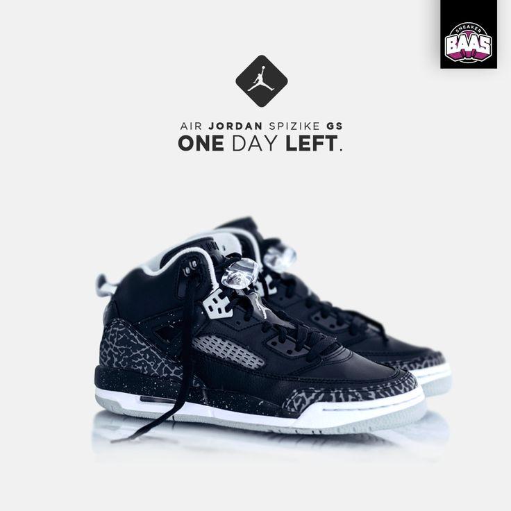 "Air Jordan Spizike GS ""Black"" | TOMORROW! | www.sneakerbaas.nl | #BAASBOVENBAAS #JORDAN #SPIZIKE #GS #BLACK"