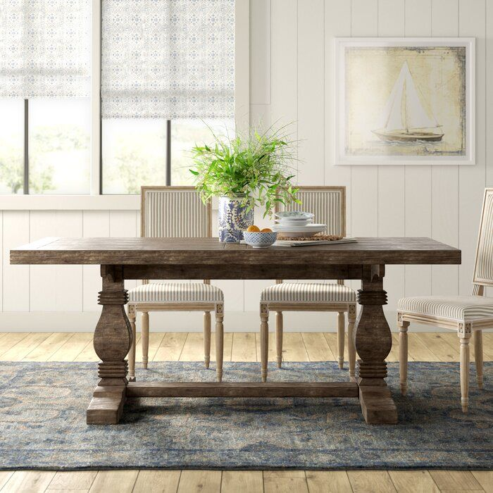 Gertrude Dining Table Reviews Birch Lane Solid Wood Dining Table Wood Dining Table Trestle Dining Tables