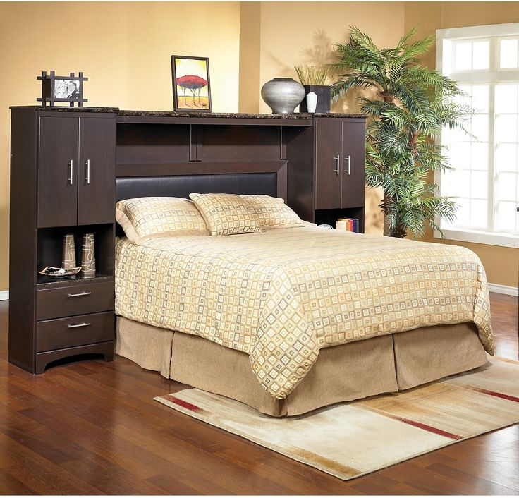 Warehouse Bedroom Furniture: Oxford Queen Wall Bed With Piers