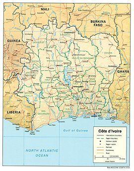 Côte d'Ivoire Map - Кот-д'Ивуар — Википедия