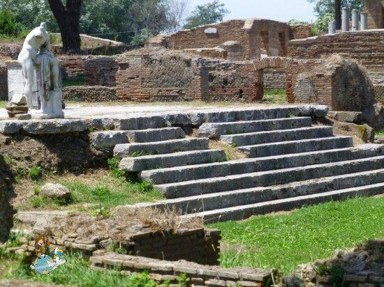 Hercules Temple in Ostia Antica (Italy)