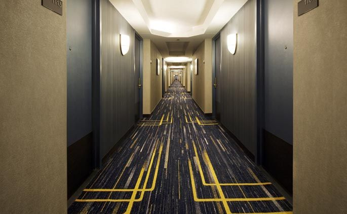 127 best images about condo hallways on pinterest for Hotel corridor decor