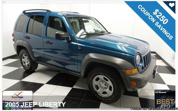 2005 JEEP LIBERTY / $250 IN COUPONS ! Savings available with our coupons!!