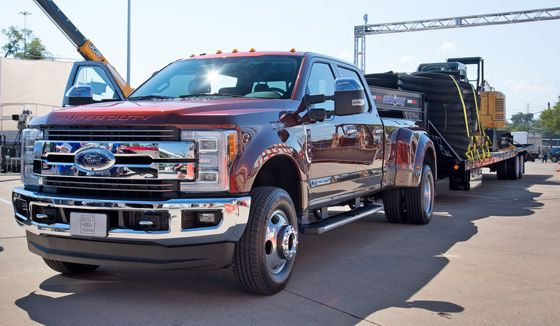 2017 Ford F-350 Towing a Load Trail 40ft. Gooseneck Trailer | trucks | Pinterest | Ford