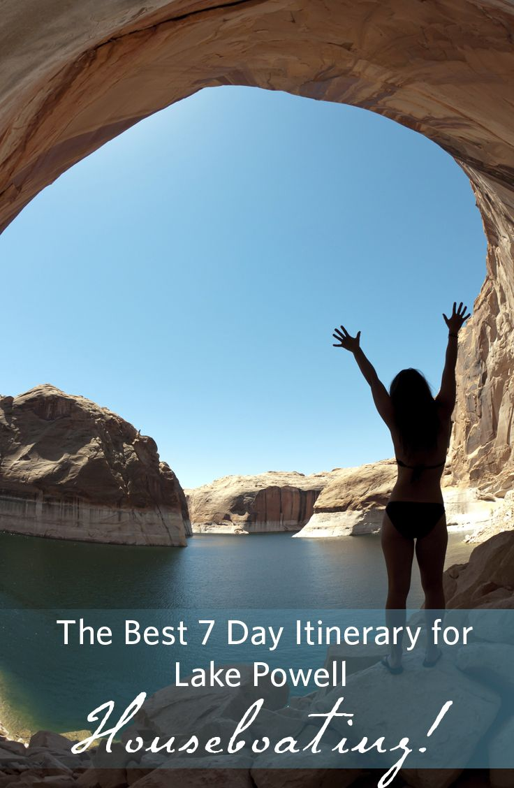 Here are 2 itineraries - one from Wahweap and one from Bullfrog! Happy houseboating! #HouseboatingonLakePowell