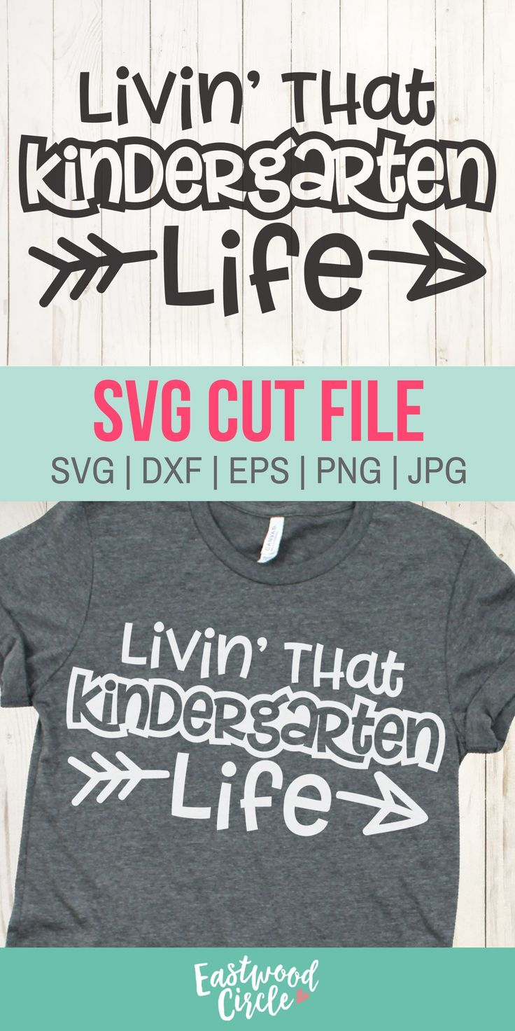 Livin That Kindergarten Life svg, Kindergarten svg, School