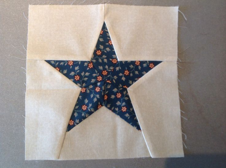 Block 47.  Red, White And Blue Star