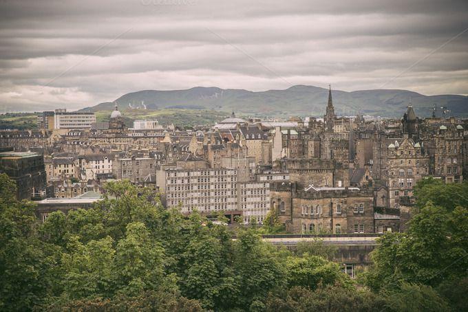 Edinburgh city view, Scotland by Irantzu Arbaizagoitia on Creative Market