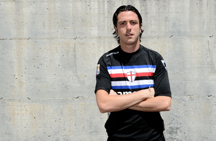 Bomber Pozzi wears new kit U.C. Sampdoria