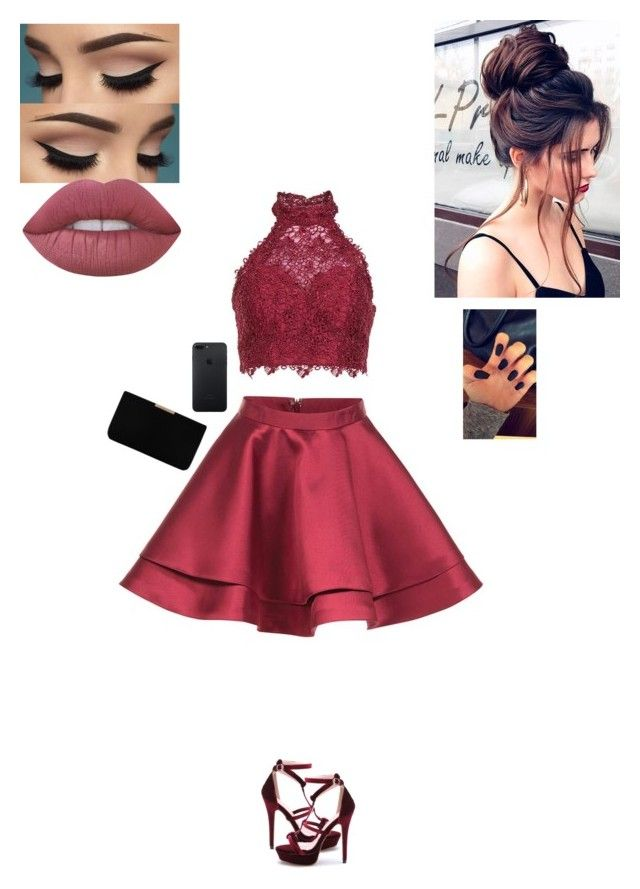 """""""Entering iHop right after Prom"""" by sonialicetmartinez ❤ liked on Polyvore featuring Alyce Paris, Lime Crime and L.K.Bennett"""