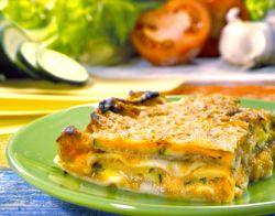 Lasagne met ham en courgettes