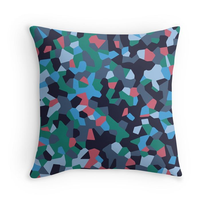 Graphic pattern of multi-colored pieces