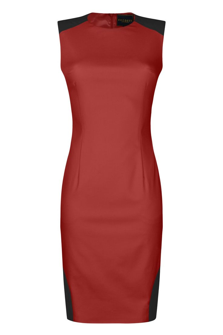 NICOLE PU PANEL FITTED DRESS  RUBY £179.00 #party #outfit #inspiration #womenswear #fashion #dress #elegance