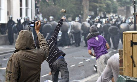 The 2011 riots in English towns and cities catalysed discussions on youth and gang violence and its impact on public health.  Photograph: Jo...
