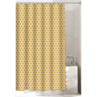 Buy Morocco X Extra Long Shower Curtain From At Bed Bath Beyond Create An Opulent Look With This Gold Enhanced All Over