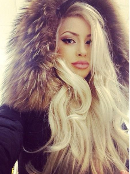 Really pleases Beautiful blonde in fur coat you were