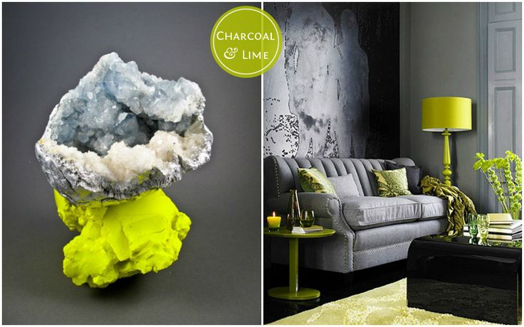 Color Palette With Gray Lime Green And Yellow