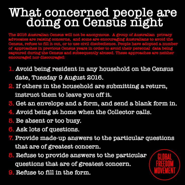 What concerned people are doing on Census night | Global Freedom Movement