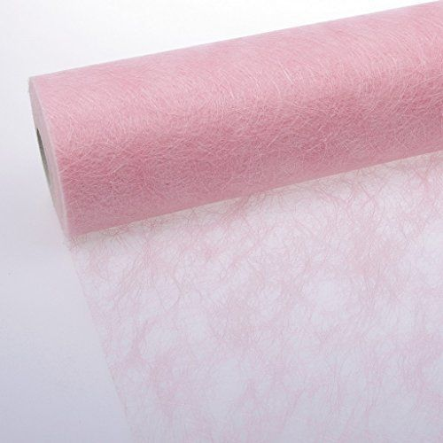 25 m x 30 cm Sizoweb® Vlies Original Tischband Tischläufer hellrosa rosa für Hochzeit, Verlobung, Kommunion, Taufe...: Amazon.de: Küche & Haushalt