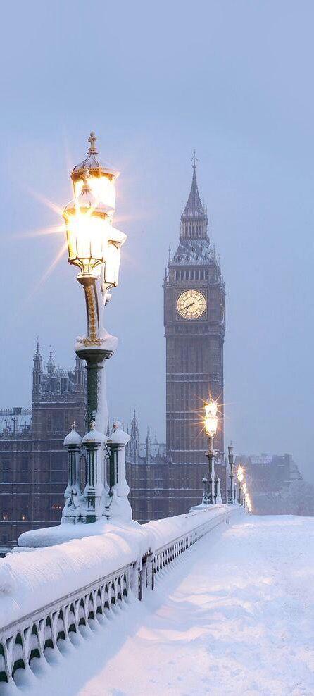 Een week of twee naar Londen met kerstmismet sneeuw!
