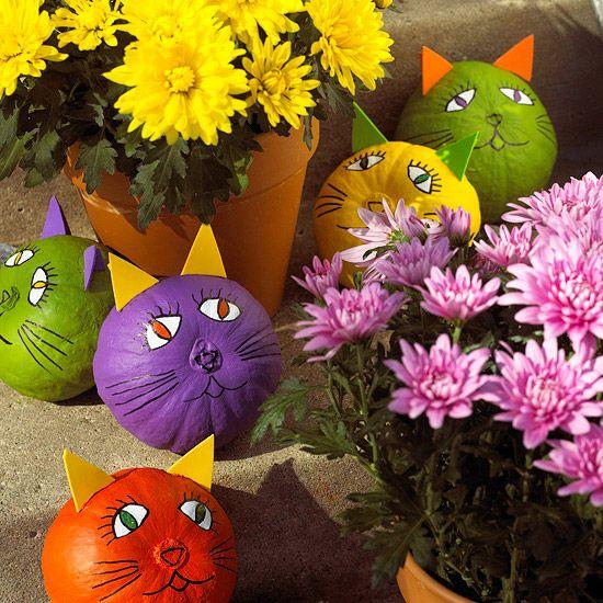 10 Non-Scary Pumpkin Ideas for Halloween