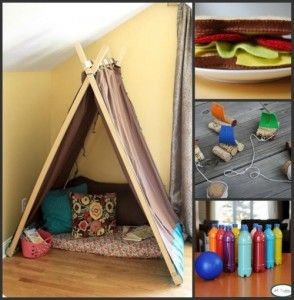 18 Awesome Homemade Toys for Toddlers** great reading tent instructions