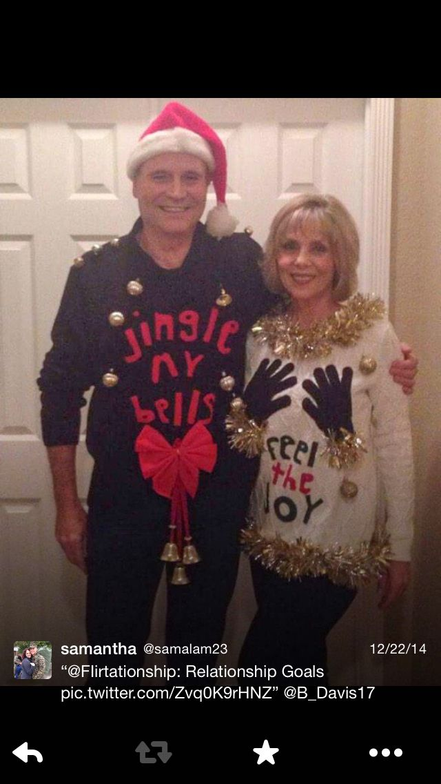 couples ugly sweaters