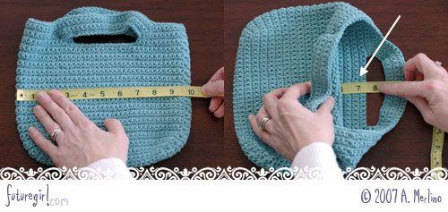 futuregirl craft blog : Tutorial: Sew A Lining For A Crocheted Bag