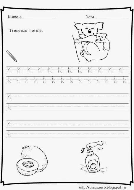 Clasa pregatitoare: Fisa de lucru litera K