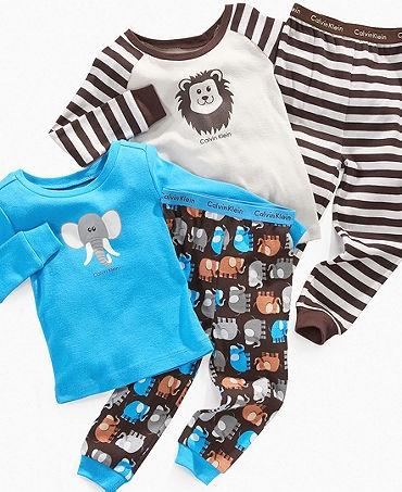 Calvin Klein Kids Pajama Set, Toddler Boys Zoo Sleep Tee and Pants
