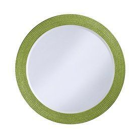 Tyler Dillon Lancelot 42-In X 42-In Green Framed Round Transitional Wall Mirror