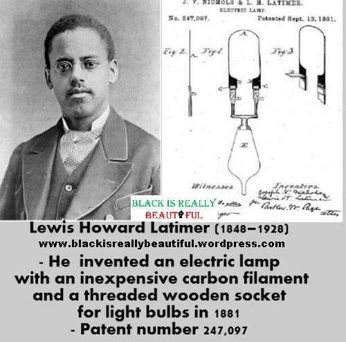 a biography of lewis howard latimer the african american inventor Lewis h latimer 1848 – 1928 inventor lewis howard latimer was born on september 4 contemporary black biography retrieved march 25.