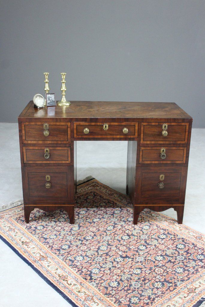 Antique Small Mahogany Desk Furniture Boutique Mid Century